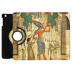 Egyptian Man Sun God Ra Amun Apple Ipad Mini Flip 360 Case by Celenk