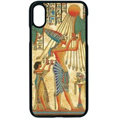 Egyptian Man Sun God Ra Amun Apple Iphone X Seamless Case (black)