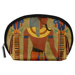Egyptian Tutunkhamun Pharaoh Design Accessory Pouches (large)  by Celenk