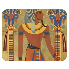 Egyptian Tutunkhamun Pharaoh Design Double Sided Flano Blanket (medium)  by Celenk