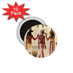 Egyptian Design Man Woman Priest 1 75  Magnets (10 Pack)  by Celenk