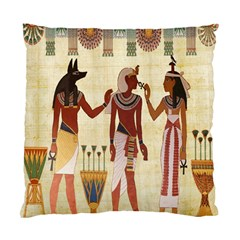Egyptian Design Man Woman Priest Standard Cushion Case (one Side) by Celenk
