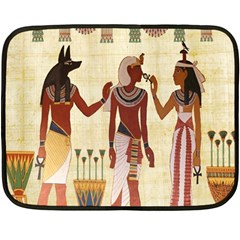 Egyptian Design Man Woman Priest Double Sided Fleece Blanket (mini)  by Celenk