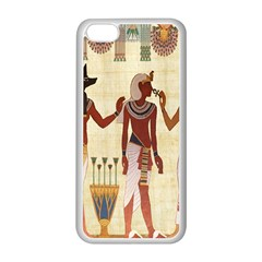 Egyptian Design Man Woman Priest Apple Iphone 5c Seamless Case (white) by Celenk