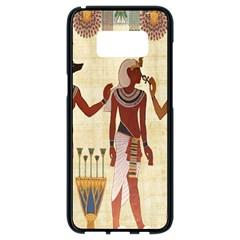 Egyptian Design Man Woman Priest Samsung Galaxy S8 Black Seamless Case by Celenk
