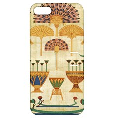 Egyptian Paper Papyrus Hieroglyphs Apple Iphone 5 Hardshell Case With Stand by Celenk