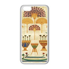Egyptian Paper Papyrus Hieroglyphs Apple Iphone 5c Seamless Case (white) by Celenk