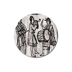 Man Ethic African People Collage Magnet 3  (round) by Celenk
