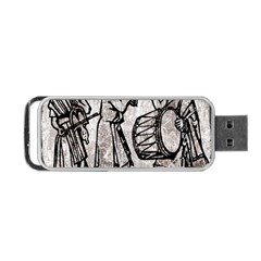 Man Ethic African People Collage Portable Usb Flash (one Side) by Celenk