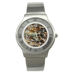 Texture Textile Beads Beading Stainless Steel Watch by Celenk