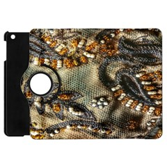 Texture Textile Beads Beading Apple Ipad Mini Flip 360 Case by Celenk