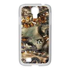 Texture Textile Beads Beading Samsung Galaxy S4 I9500/ I9505 Case (white) by Celenk