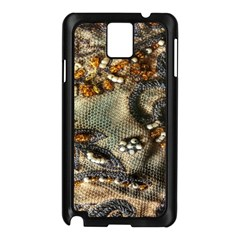 Texture Textile Beads Beading Samsung Galaxy Note 3 N9005 Case (black) by Celenk