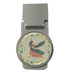 Egyptian Woman Wings Design Money Clips (round)  by Celenk