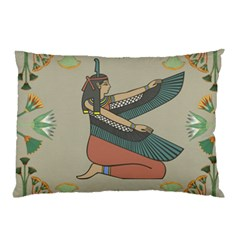 Egyptian Woman Wings Design Pillow Case (two Sides) by Celenk