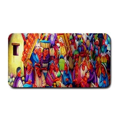 Guatemala Art Painting Naive Medium Bar Mats by Celenk