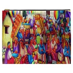 Guatemala Art Painting Naive Cosmetic Bag (xxxl)  by Celenk