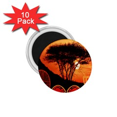 Africa Safari Summer Sun Nature 1 75  Magnets (10 Pack)  by Celenk