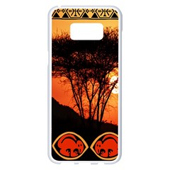 Africa Safari Summer Sun Nature Samsung Galaxy S8 Plus White Seamless Case by Celenk