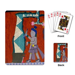 Mexico Puebla Mural Ethnic Aztec Playing Card by Celenk