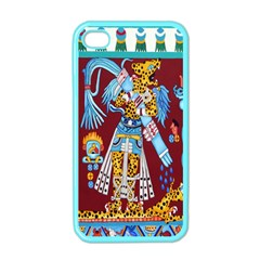 Mexico Puebla Mural Ethnic Aztec Apple Iphone 4 Case (color) by Celenk