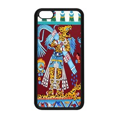 Mexico Puebla Mural Ethnic Aztec Apple Iphone 5c Seamless Case (black) by Celenk