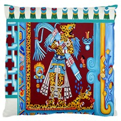 Mexico Puebla Mural Ethnic Aztec Large Flano Cushion Case (one Side) by Celenk