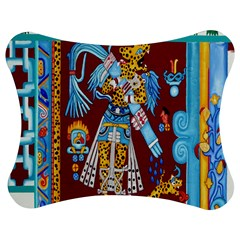 Mexico Puebla Mural Ethnic Aztec Jigsaw Puzzle Photo Stand (bow) by Celenk