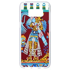 Mexico Puebla Mural Ethnic Aztec Samsung Galaxy S8 White Seamless Case