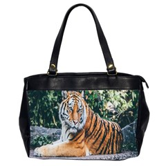 Animal Big Cat Safari Tiger Office Handbags (2 Sides)  by Celenk