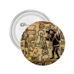 Mystery Pattern Pyramid Peru Aztec Font Art Drawing Illustration Design Text Mexico History Indian 2.25  Buttons