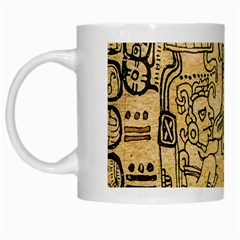 Mystery Pattern Pyramid Peru Aztec Font Art Drawing Illustration Design Text Mexico History Indian White Mugs