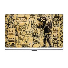 Mystery Pattern Pyramid Peru Aztec Font Art Drawing Illustration Design Text Mexico History Indian Business Card Holders