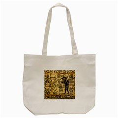 Mystery Pattern Pyramid Peru Aztec Font Art Drawing Illustration Design Text Mexico History Indian Tote Bag (Cream)