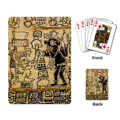 Mystery Pattern Pyramid Peru Aztec Font Art Drawing Illustration Design Text Mexico History Indian Playing Card