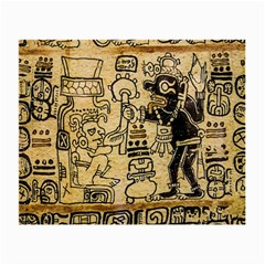 Mystery Pattern Pyramid Peru Aztec Font Art Drawing Illustration Design Text Mexico History Indian Small Glasses Cloth (2-Side)