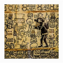 Mystery Pattern Pyramid Peru Aztec Font Art Drawing Illustration Design Text Mexico History Indian Medium Glasses Cloth (2-Side)