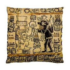 Mystery Pattern Pyramid Peru Aztec Font Art Drawing Illustration Design Text Mexico History Indian Standard Cushion Case (Two Sides)