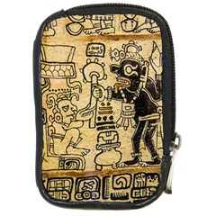 Mystery Pattern Pyramid Peru Aztec Font Art Drawing Illustration Design Text Mexico History Indian Compact Camera Cases