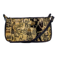 Mystery Pattern Pyramid Peru Aztec Font Art Drawing Illustration Design Text Mexico History Indian Shoulder Clutch Bags