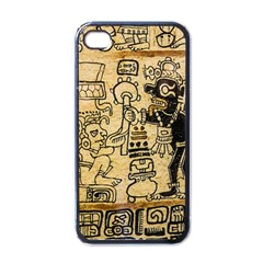 Mystery Pattern Pyramid Peru Aztec Font Art Drawing Illustration Design Text Mexico History Indian Apple iPhone 4 Case (Black)