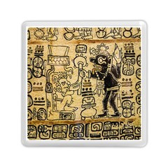 Mystery Pattern Pyramid Peru Aztec Font Art Drawing Illustration Design Text Mexico History Indian Memory Card Reader (Square)