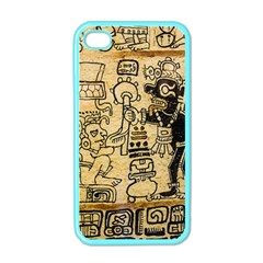 Mystery Pattern Pyramid Peru Aztec Font Art Drawing Illustration Design Text Mexico History Indian Apple iPhone 4 Case (Color)