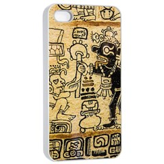 Mystery Pattern Pyramid Peru Aztec Font Art Drawing Illustration Design Text Mexico History Indian Apple iPhone 4/4s Seamless Case (White)