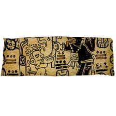 Mystery Pattern Pyramid Peru Aztec Font Art Drawing Illustration Design Text Mexico History Indian Body Pillow Case Dakimakura (Two Sides)