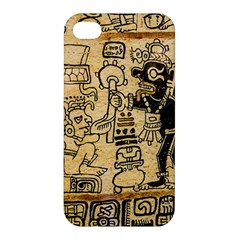 Mystery Pattern Pyramid Peru Aztec Font Art Drawing Illustration Design Text Mexico History Indian Apple iPhone 4/4S Premium Hardshell Case
