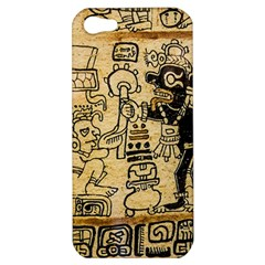 Mystery Pattern Pyramid Peru Aztec Font Art Drawing Illustration Design Text Mexico History Indian Apple iPhone 5 Hardshell Case