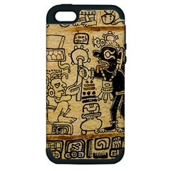 Mystery Pattern Pyramid Peru Aztec Font Art Drawing Illustration Design Text Mexico History Indian Apple iPhone 5 Hardshell Case (PC+Silicone)