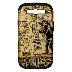 Mystery Pattern Pyramid Peru Aztec Font Art Drawing Illustration Design Text Mexico History Indian Samsung Galaxy S III Hardshell Case (PC+Silicone)