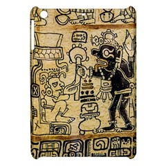 Mystery Pattern Pyramid Peru Aztec Font Art Drawing Illustration Design Text Mexico History Indian Apple iPad Mini Hardshell Case